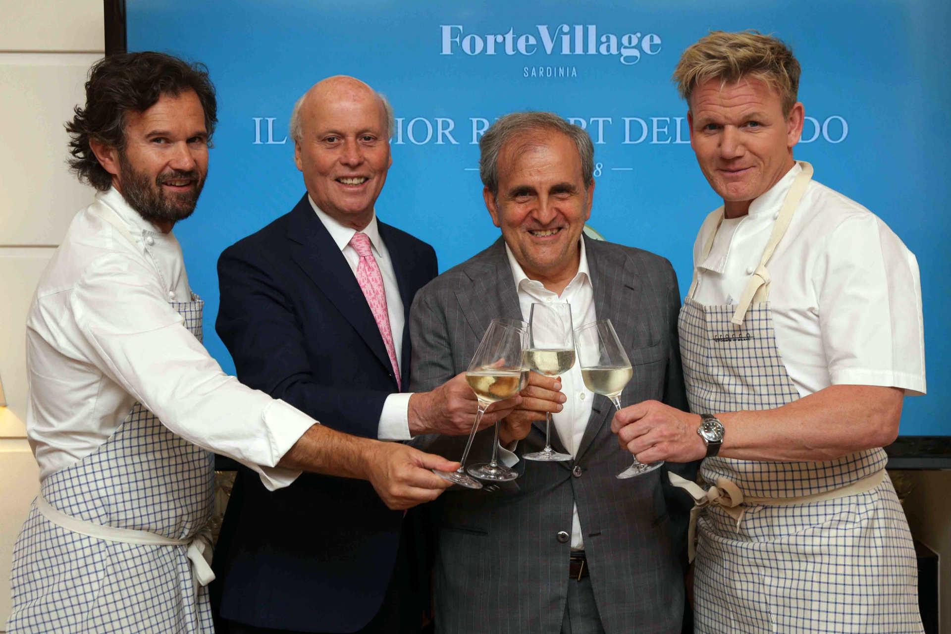 Cena Cracco, Gordon Ramsay per il Forte Village