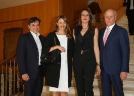 Fabio Caressa, Benedetta Parodi, Stella Aneri, Giancarlo Aneri