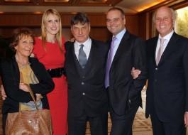Claudio Magris e signora, Stella Aneri, Alessandro Aneri, Giancarlo Aneri