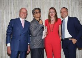 Giancarlo Aneri, Rosario Fiorello, Stella Aneri e Alessandro Aneri