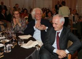 Laura Pollini, Luciano Benetton e Luciano Fontana