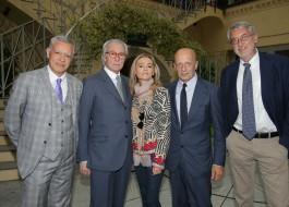Massimo Borgnis, Vittorio Feltri, Monica Mosca, Alessandro Sallusti e Umberto Brindani