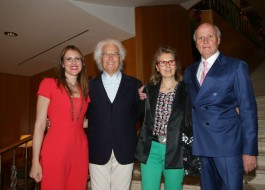 Stella Aneri, Luciano Benetton, Laura Pollini e Giancarlo Aneri