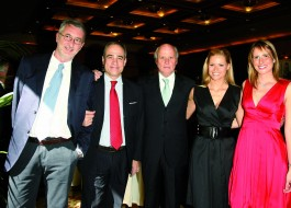 Umberto Brindani, Andrea Monti, Giancarlo Aneri, Michelle Hunziker, Stella Aneri