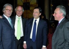 Vittorio Feltri, Giancarlo Aneri, Mario Draghi, Francesco Giavazzi