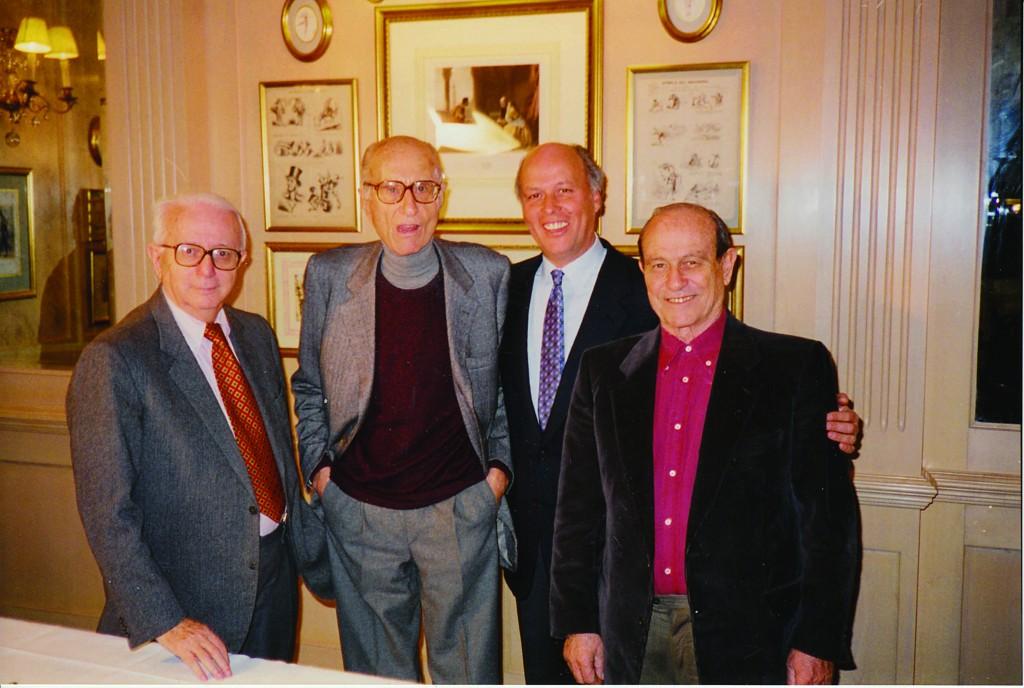 I fondatori: Enzo Biagi, Indro Montanelli, Giancarlo Aneri, Giorgio Bocca
