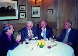 Giorgio Bocca, Enzo Biagi, Giancarlo Aneri, Indro Montanelli