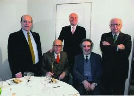 Giorgio Bocca, Indro Montanelli, Giancarlo Aneri, Claudio RInaldi, Enzo Biagi